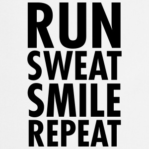 Run, Sweat, Smile, Repeat T-shirts - Forklæde