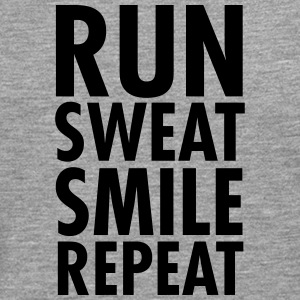 Run, Sweat, Smile, Repeat T-shirts - Herre premium T-shirt med lange ærmer