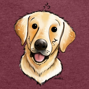 Glad Labrador Retriever Accessories - Dame T-shirt med rulleærmer