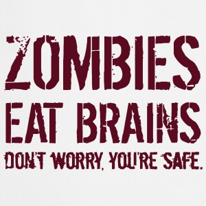 ZOMBIES EAT BRAINS T-skjorter - Kokkeforkle