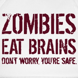ZOMBIES EAT BRAINS T-skjorter - Baseballcap