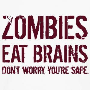 ZOMBIES EAT BRAINS T-Shirts - Men's Premium Longsleeve Shirt