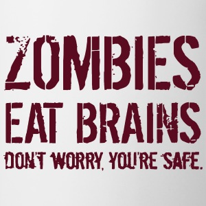 ZOMBIES EAT BRAINS T-shirts - Kop/krus