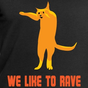Techno cat is raving T-Shirts - Men's Sweatshirt by Stanley & Stella