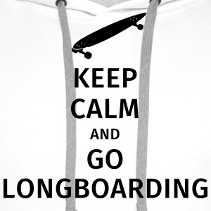 keep calm and go longboaring T-shirts - Mannen Premium hoodie