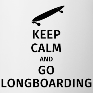 keep calm and go longboaring Koszulki - Kubek