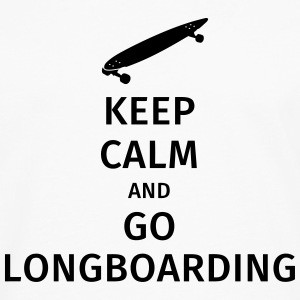 keep calm and go longboaring T-skjorter - Premium langermet T-skjorte for menn