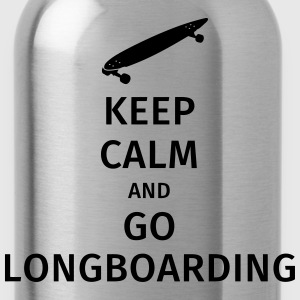 keep calm and go longboaring T-shirts - Vattenflaska