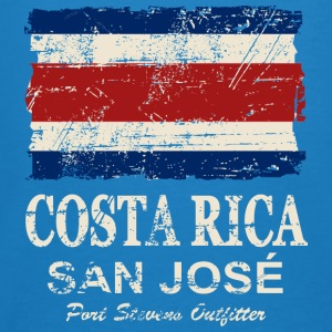 Costa Rca Flag - Vintage Look Sweaters - Mannen Bio-T-shirt