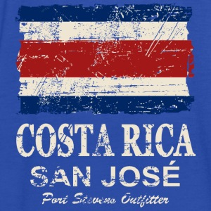 Costa Rca Flag - Vintage Look Gensere - Singlet for kvinner fra Bella
