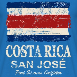 Costa Rica Flag - Vintage Look Sweatshirts - Herre-T-shirt
