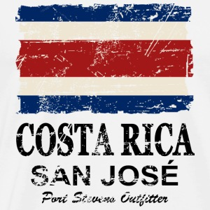 Costa Rca Flag - Vintage Look Long sleeve shirts - Men's Premium T-Shirt