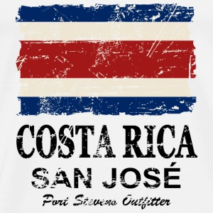 Costa Rca Flag - Vintage Look Sports wear - Men's Premium T-Shirt