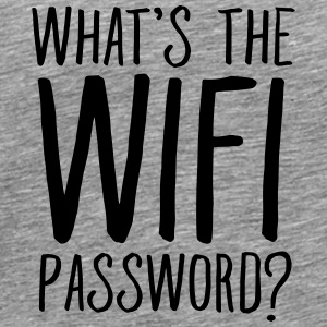 What's The WIFI Password Toppar - Premium-T-shirt herr