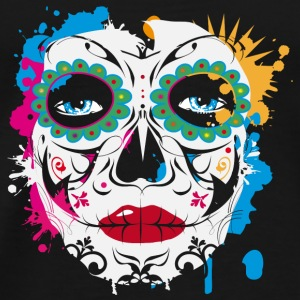 Sugar Skull Makeup Graffiti Long Sleeve Shirts - Men's Premium T-Shirt