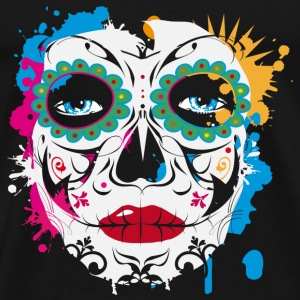 Sugar Skull Makeup Graffiti Hoodies & Sweatshirts - Men's Premium T-Shirt