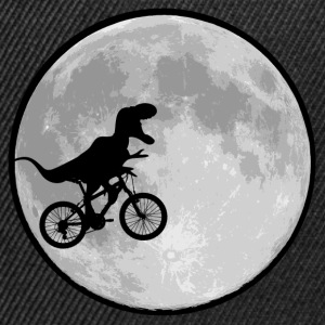 Dinosaur bike and MOON - Snapback Cap