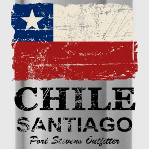 Chile Flag - Vintage Look Sweatshirts - Drikkeflaske