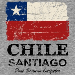Chile Flag - Vintage Look Sweaters - Mannen Premium T-shirt