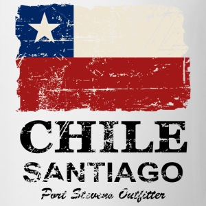 Chile Flag - Vintage Look T-shirts - Mugg