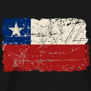Chile Flag - Vintage Look Toppe - Herre premium T-shirt