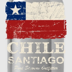 Chile Flag - Vintage Look T-shirts - Drikkeflaske