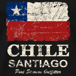 Chile Flag - Vintage Look Top - Maglietta Premium da uomo