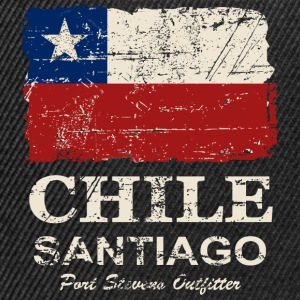 Chile Flag - Vintage Look Top - Snapback Cap