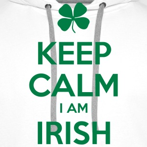 KEEP CALM I'M IRISH - Men's Premium Hoodie