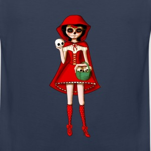 Dia de Los Muertos Red Riding Hood Long Sleeve Shirts - Men's Premium Tank Top