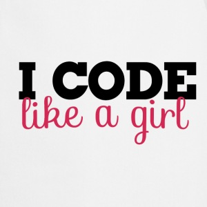 I code like a girl programmer  - Cooking Apron