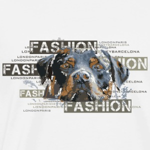 fashion-rottweiler-dog-an Toppe - Herre premium T-shirt