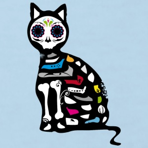 Sugar Skull Cat Bags & Backpacks - Kids' Organic T-shirt
