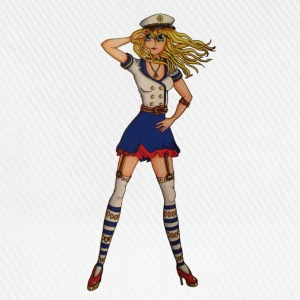 Sailor girl shirt - Baseballcap