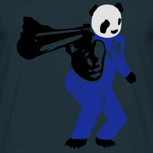 shooting panda 2  Aprons - Men's T-Shirt