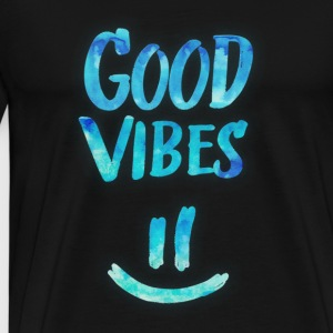 Good Vibes - Funny Smiley Statement / Happy Face Tops - Camiseta premium hombre