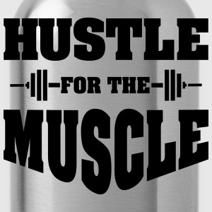 Hustle For The Muscle Tank Tops - Water Bottle