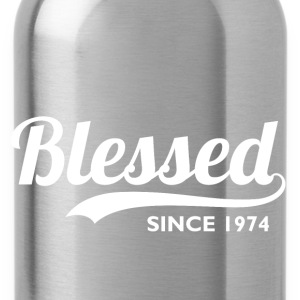 Blessed since 1974 - Birthday Thanksgiving T-Shirts - Water Bottle