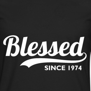 Blessed since 1974 - Birthday Thanksgiving T-Shirts - Men's Premium Longsleeve Shirt