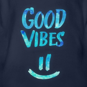 Good Vibes - Funny Smiley Statement / Happy Face Tee shirts - Body bébé bio manches courtes
