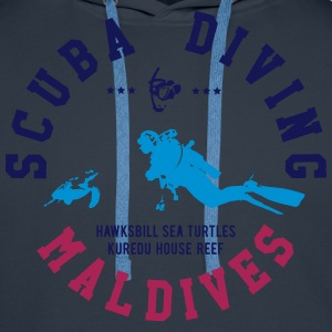 MALDIVES SCUBA DIVING T-Shirts - Men's Premium Hoodie