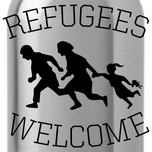refugees welcome! Pullover & Hoodies - Trinkflasche