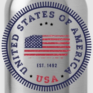 UNITED STATES OF AMERICA T-Shirts - Trinkflasche
