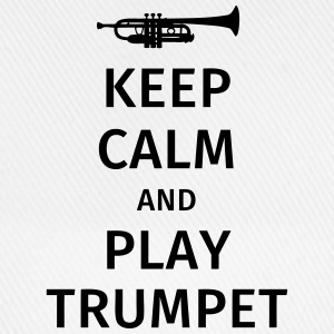 keep calm and play trumpet T-skjorter - Baseballcap