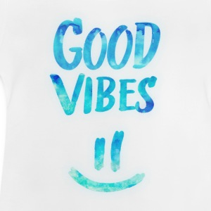 Good Vibes - Funny Smiley Statement / Happy Face Langærmede shirts - Baby T-shirt