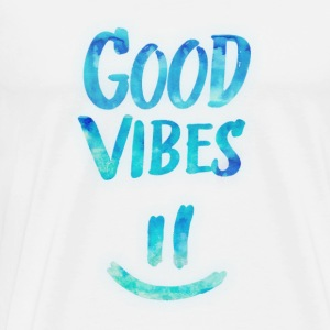Good Vibes - Funny Smiley Statement / Happy Face Maglietta a maniche lunghe - Maglietta Premium da uomo
