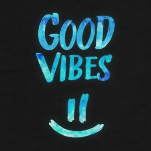 Good Vibes - Funny Smiley Statement / Happy Face Caps & Hats - Men's Premium T-Shirt