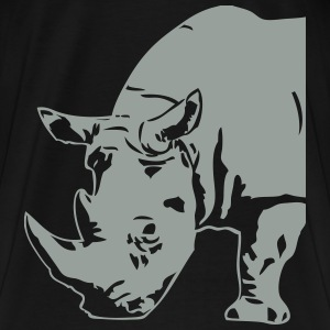 Black  Rhino Hoodies & Sweatshirts - Men's Premium T-Shirt