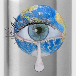 Planet earth crying T-Shirts - Water Bottle