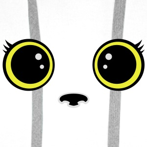 Kitten kawaii eyes Tops - Men's Premium Hoodie